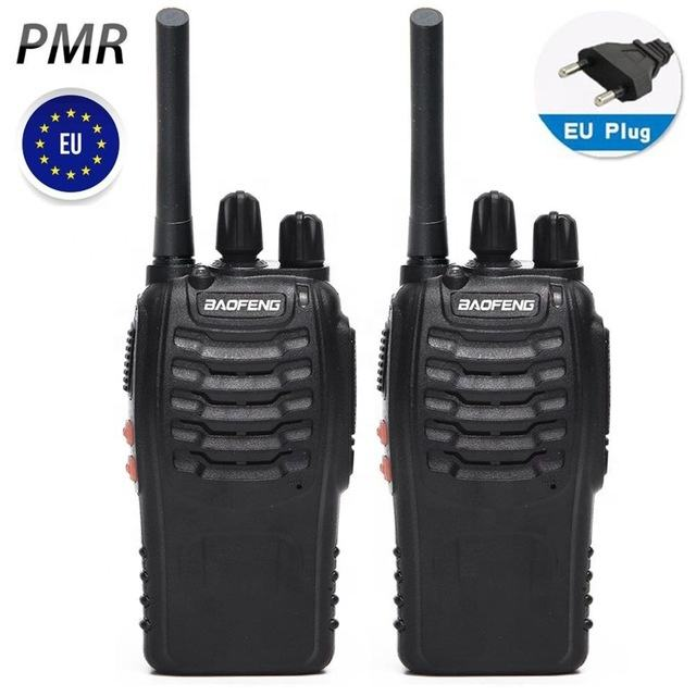 2PCS Baofeng BF-88E PMR 446 USB Charger 0.5W 16CH European Handheld CB Ham Radio Station Upgrade BF-888S Walkie Talkie