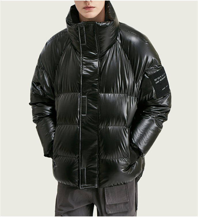 Winter Men's Polyester 90% Duck Waterproof Puffy Coats Men's Casual Loose Long Down Jacket