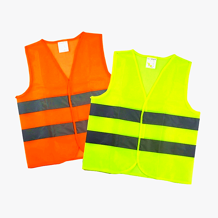 LED Reflective Safety Vest with Pockets Traffic Warning Outdoor Running Light~