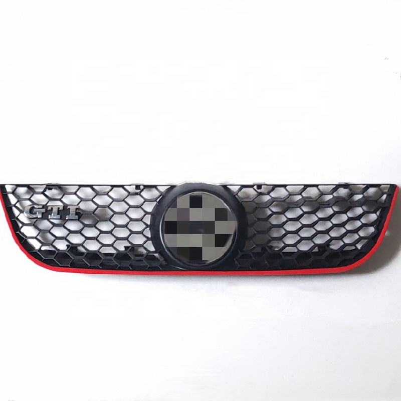 Good Production ABS Auto Car Red Line auto honeycomb Front Grille for VW Polo GTI 2005 - 2009
