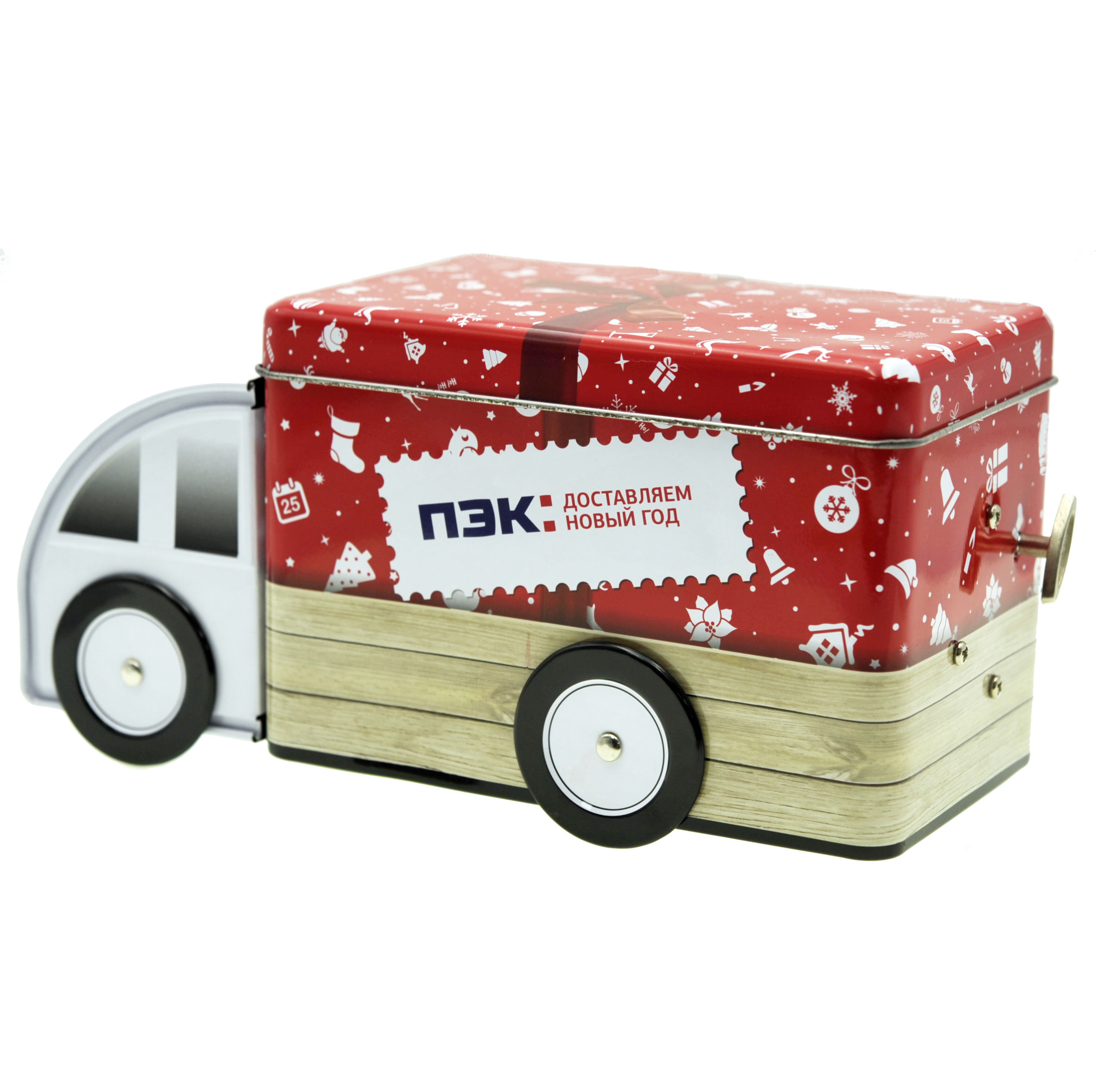 Adorable Metal Truck Tin Can Box Mini Van Tin Case For Gifts&Biscuit Packaging