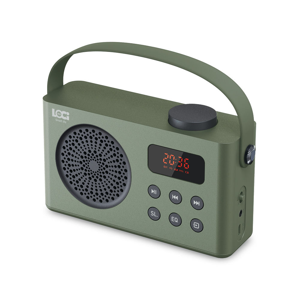 Portable Rechargeable Radio dengan FM & USB & Blutooth Fungsi