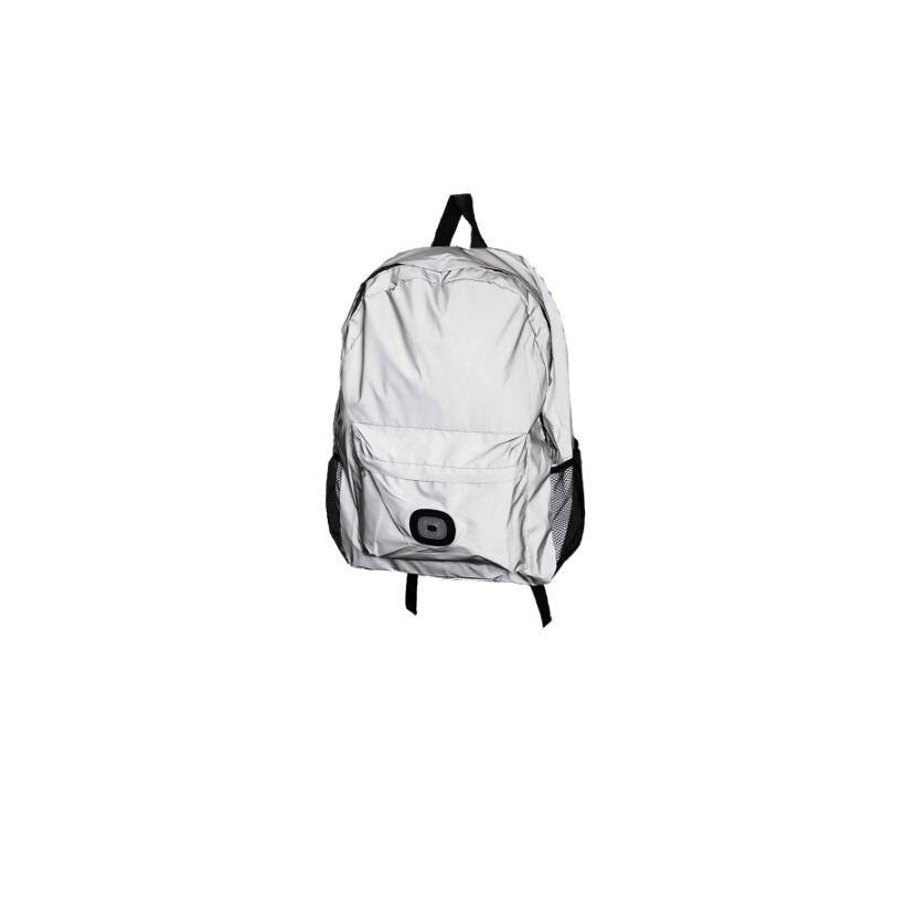 Ready in stock shoulder backpack fast lead time reflective light bagpack with LED