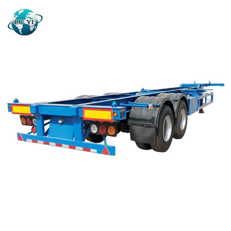 Factory Direct Tri Axle Skeletal 40ft Container Chassis skeleton Semi-Trailers
