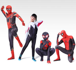 Halloween spider-man spiderman 2 tights parallel universe suits adult and children kids costumes
