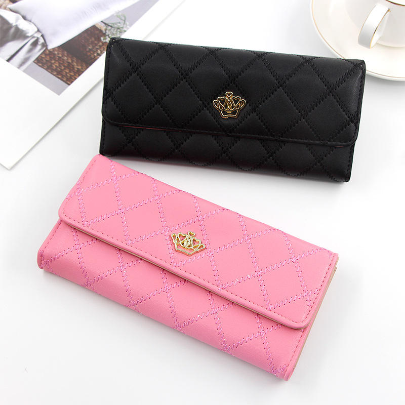 New middle long women wallet large capacity multi-function zero wallet