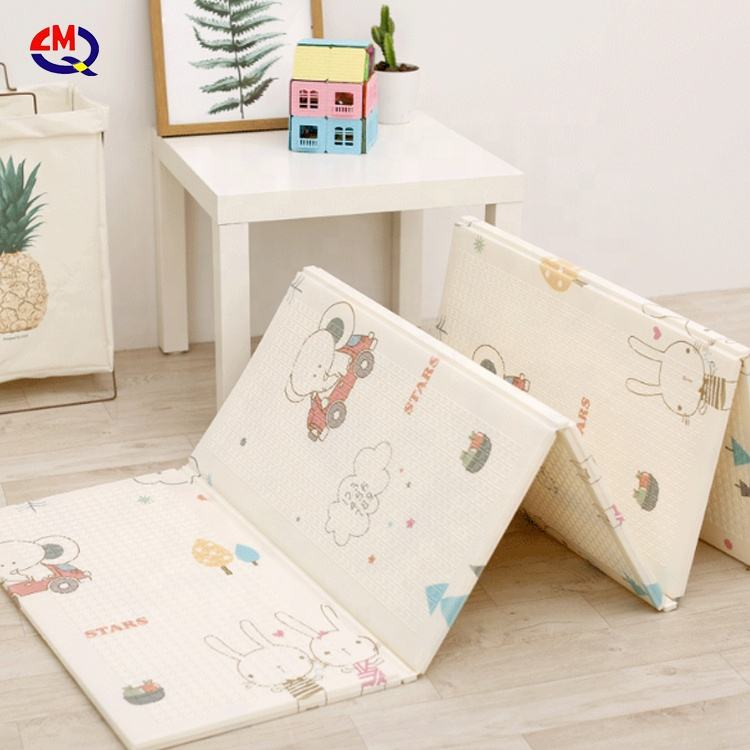 baby blanket foot print walking learning play mat and easy foldable washed kids mat baby play xpe mat