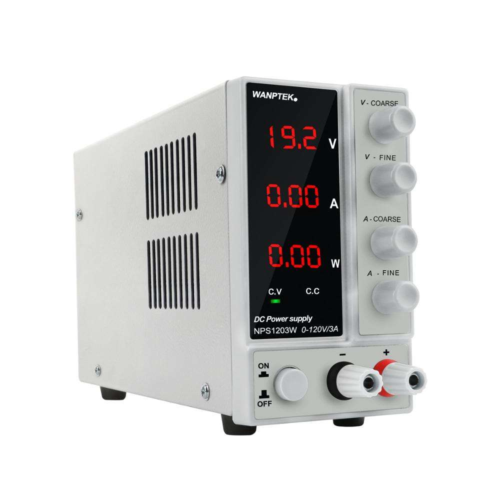 KUAIQU 60V 5A Adjustable Current Voltage Watt Display Panel Switching Power Regulator DC Power Supply
