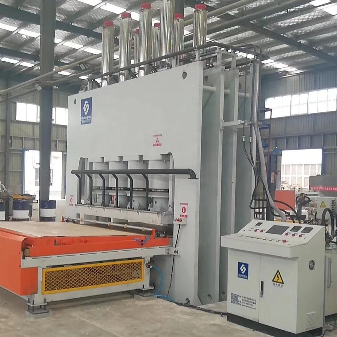 Hydraulic short cycle Hot press production line for MDF board