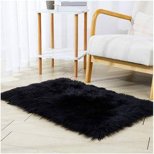 High quality synthetic faux fur sheepskin bedside mats fluffy faux fur rug area rug for room