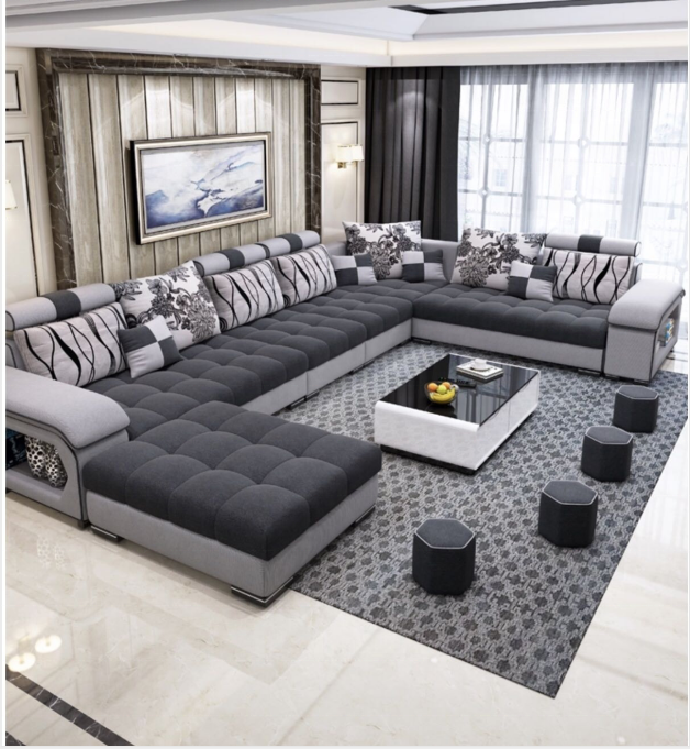 Furniture Factory Direct Living Room Furniture Sets Sofa Set Designs 7 Seater Modern Fabric Sofa