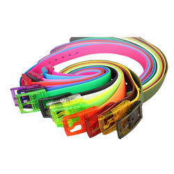 Fashion Candy Color Eco-Friendly Plastic Belts Unisex Silico