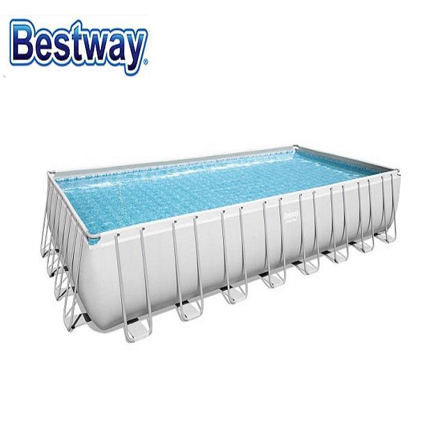 BESTWAY 56623 power steel rectangular plastic frame family lounge swimming pools products
