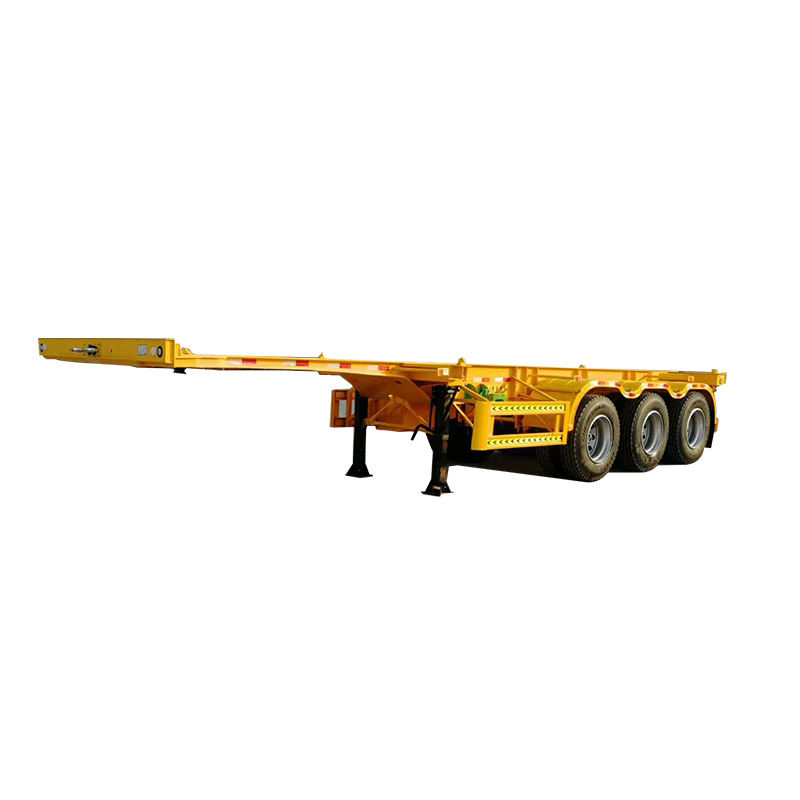 NEW products 3axles 40ft Skeleton container transport semi truck trailer for sale