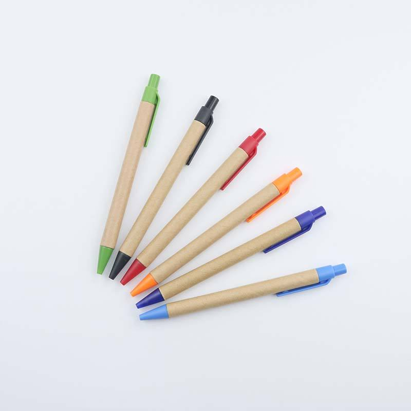 Cheap Promotional Eco friendly Paper pen with multi color mini size