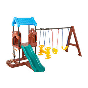 Small home garden kids outdoor indoor playground small slide and swing set