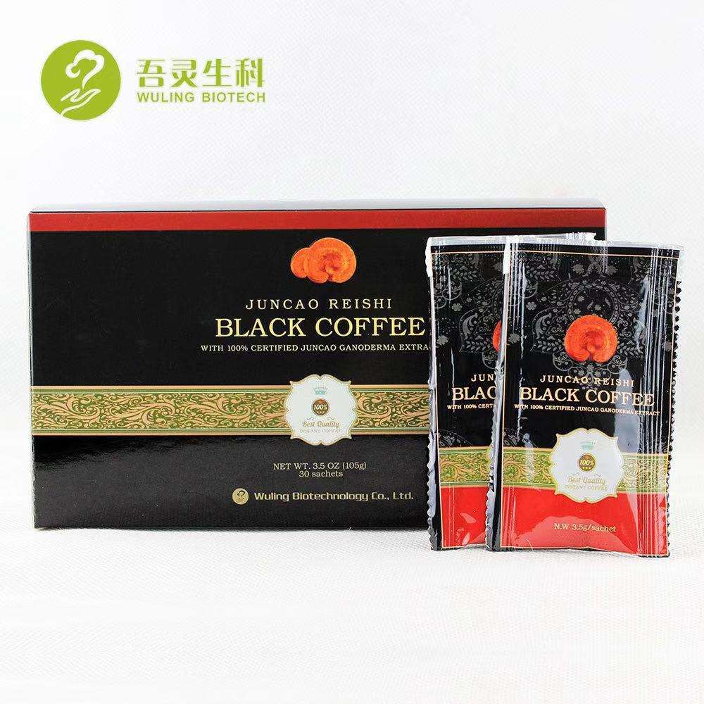 Free Shipping Wuling Factory Price Instant Iced Coffee Powder with Reishi Mushroom Extract Powder