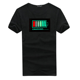 Rave Party Clothing Sound Active EL Wire T-shirt Halloween T Shirt With Lighting