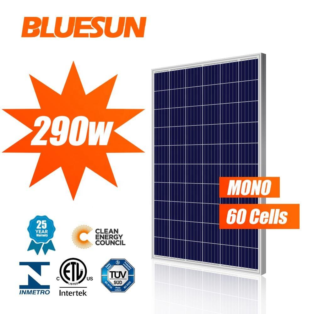 China best Bluesun solar poly 260w 280w 290w solar panel container for sale