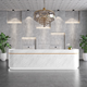 Reception Desk Marbling Elegant Design Company Essential Reception Desk