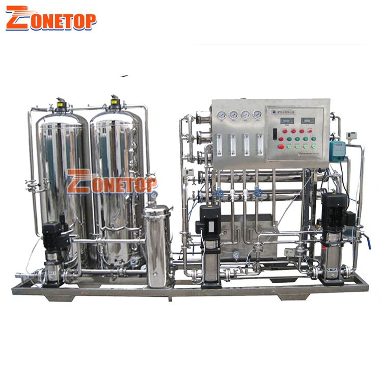 Full Stainless Steel Ozone Generator UV RO Osmosis Reverse / 1000LPH Smart Water Purifier / Membrane Water Filter