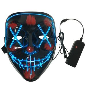 Amazon Hot Selling Guangdong Neon Party Masker Led Rave Masker Halloween