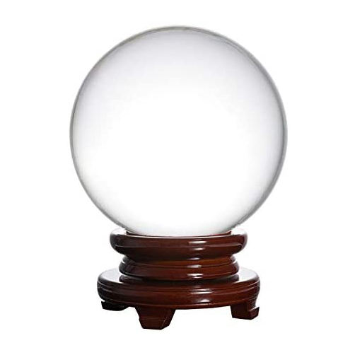 80mm Good Fortune Glass Craft in Stock Decorative Crystal Ball for Home Decoration