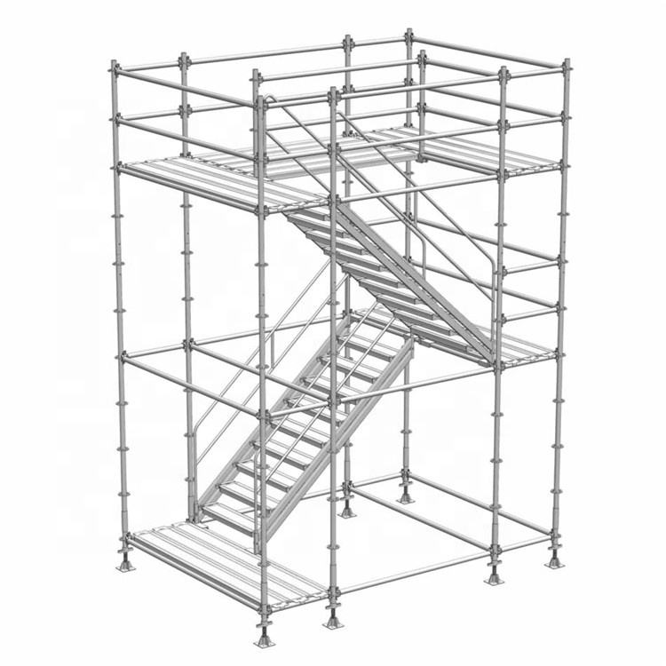 Hot Dip Galvanizers Q235 Steel Frame Moving Galvanized Layher Tower Ringlock Scaffold System