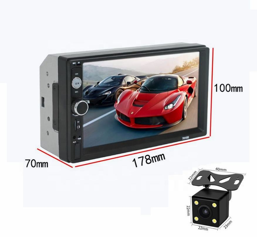 7 Inch With Reversing Camera Universal Bluetooth Screen Multimedia Radio MP5 Cd Dvd Car Video Player