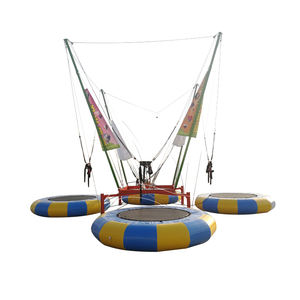 euro 4 stage bungee trampoline kids double trampoline bungee trampoline elastic cord