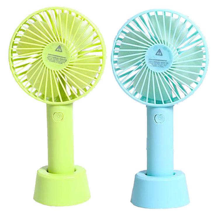 Blue Office Outdoor strong wind,3 Speed control BOUTQ Multipurpose Mini USB Rechargeable Portable Handheld Fan for Home