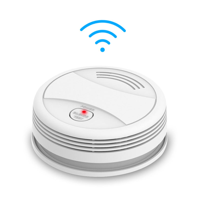 Smart TUYA APP Controlled WIFI Smoke Detector Sensor Smart Fire Alarm For Smart Home System