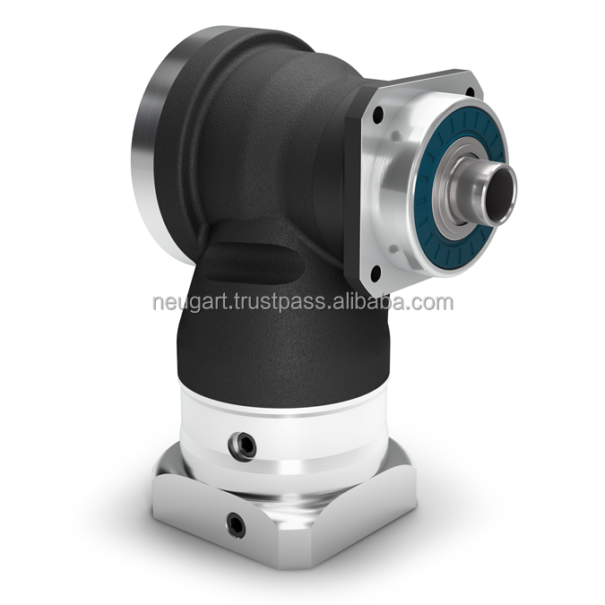 Right Angle Precision Gearbox with Hollow Shaft - Hypoid gear right angle stage - IP65 - Torsional backlash 5 arcmin, NEUGART