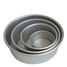 wholesale 8 Inch Aluminium Alloy Round Baking Tin Pan Christmas Cakes Pastry metal cake Mold