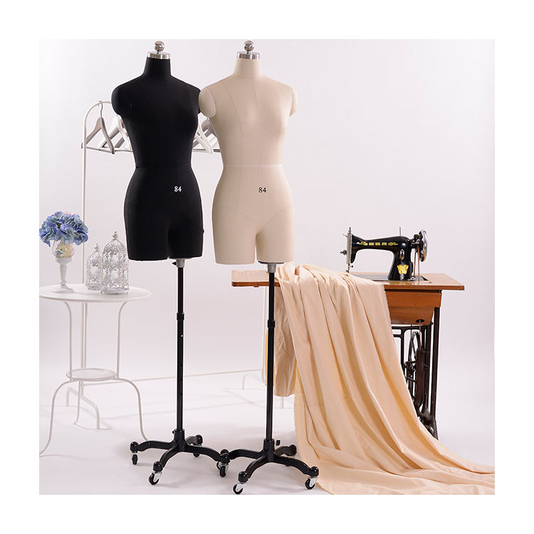dress maker mannequin Cheap Wholesale Fiberglass Dress Form Half body Female Mannequin torso