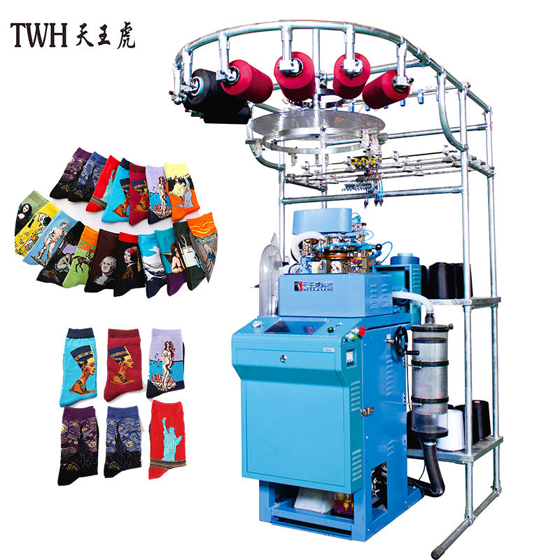 Chinese Stocking_Knitting _Machine One Cylinder Automatic Knitting Making Socks Machinery