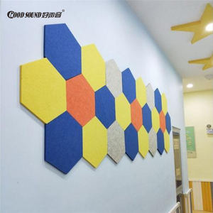 GoodSound High Density Polyester Sound Proofing Absorption Materials Acoustic Hexagon Wall Panel Boards For India Market
