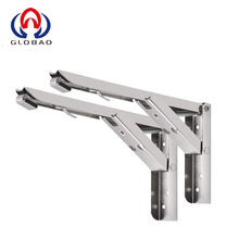 Heavy Duty SUS Collapsible Shelf Bracket Angle Spring Loaded Folding Support Shelf Bracket