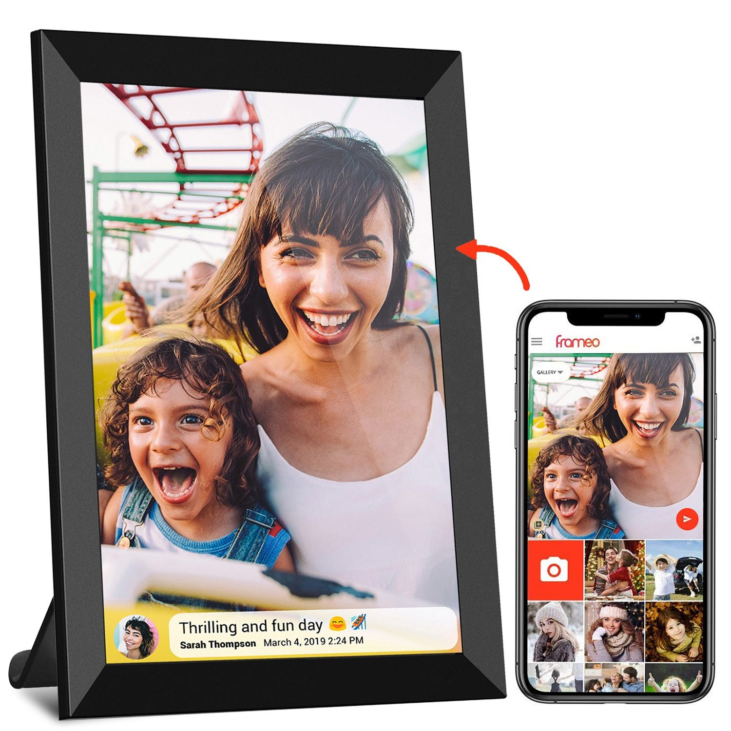 Stock up for Black Friday Sharing photos&short video with family friends via Frameo APP digital wifi picture photo frames