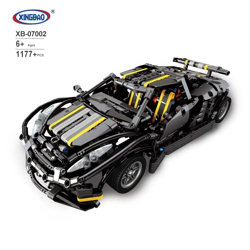 XB07002 Legoinglys MOC series black sports car children's educational plastic toy assembling building blocks toy gift