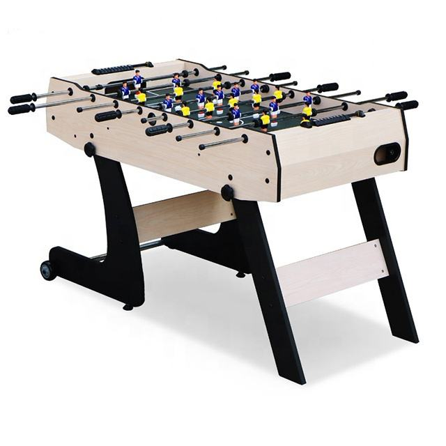 Children Games Foldable 4FT Foosball Soccer Table With Movable
