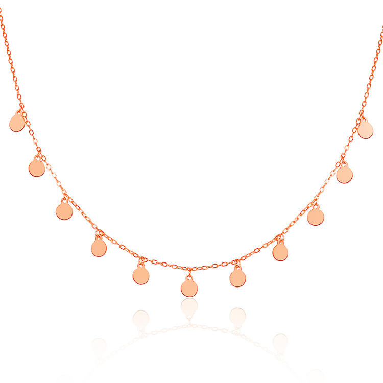 POLIVA Rose Gold Plated Silver 925 Lovers Necklace Orange Necklace Pride Necklace