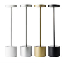 Modern restaurant cordless rechargeable usb led table lamp