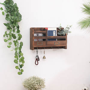 Wholesale New Design Wall Shelf Decorations Storage Wooden Wall Shelves Wood Hanging Wall Racks For Books