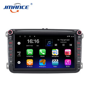 Touch Screen Gps Navigatie Stereo 2din Android 9.1 Auto Dvd Speler Auto Radio Voor Vw Polo
