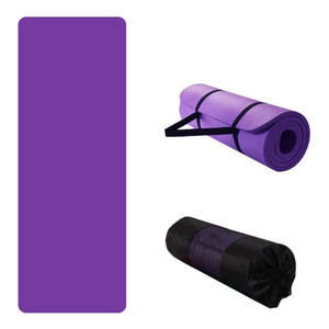 High Quality 10mm 15 mm NBR Yoga Mat Non-slip Thick Pad Fitness Pilates Mat for Outdoor Gym Exercise Fitness Sports Yoga Mat