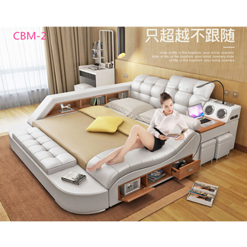 Stylish modern leather bed designs massage bed with audio