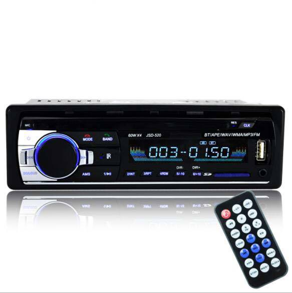 JSD-520 Auto radio Car Stereo Radio FM Aux del Ricevitore di Ingresso SD <span class=keywords><strong>USB</strong></span> 12V In-dash Auto MP3 Multimedia player per auto radio