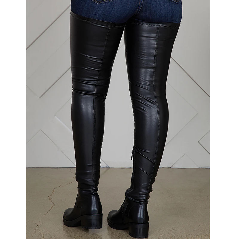 BUSY GIRL MF3030 Hot sale low moq flat boots women over the knee flat women's thigh high boots