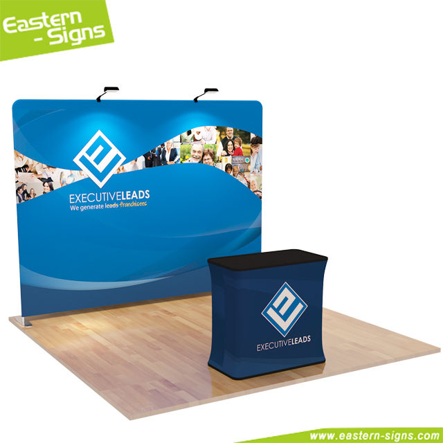 Elegant aluminum tension fabric exhibition trade show exhibition system booth design service